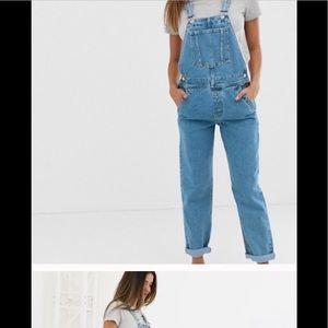Denim Overalls Adjustable waist & Straps Size 12